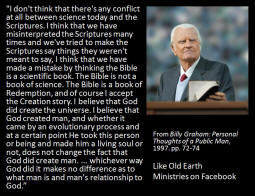 Billy Graham and Creation Science